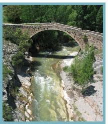 Río Mijares. Puente viejo de la Fuenseca