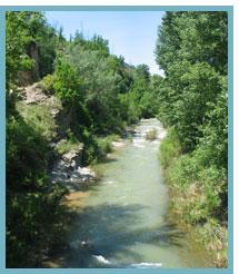 Imagen del Arroyo de Rubielos de Mora y Manantial de la Torca del Río Mijares.