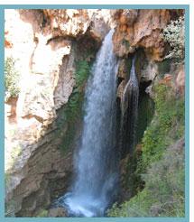 Imagen del Salto de la yegua en el río de Los Amanaderos del río Turia