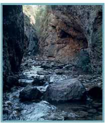 Barranco de Valcongosto del río Isuela.