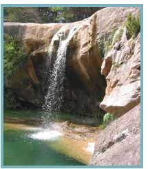 Imagen del Salto de la Tosca en el río Used