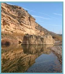 Imagen de los ríos Algars y Matarraña en los municipios deMaella, Fabara y Nonaspe.