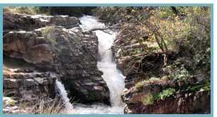 Imagen de la cascada de Calcena en el ríoIsuela.
