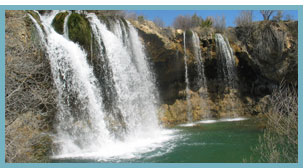 Imagen del Salto del Molino de San Pedro en el Río Cabriel