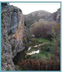 Imagen del río Isuela en el municipio de Trasobares