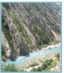 Congosto de Jánovas. Río Ara