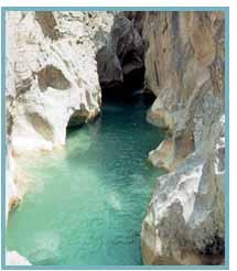 Imagen de los Estrechos de Tamara en el río Alcanadre