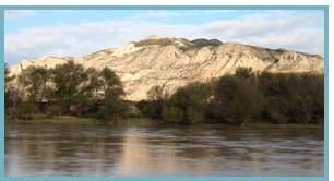 Imagen de escarpes del río Ebro, Remolinos, Torres de Berrellén y Sobradiel.