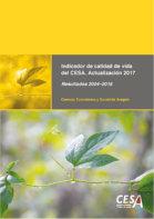 Portada del estudio: Actualización del Indicador de Calidad de Vida (IQVCESA). Actualización 2017