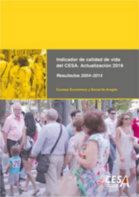 Portada del estudio: Actualización del Indicador de Calidad de Vida (IQVCESA). Actualización 2016