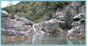 Pozo Pigalo en el río Arba de Luesia.