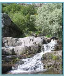 Imagen de un barranco del río Huecha.