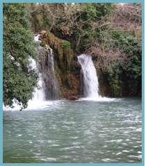 Imagen del pozo de los Chorros en el ríoManubles.