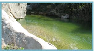 Río Matarranya. Pozas del río Algars