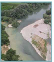 Confluencia entre los ríos Cinca y Alcanadre