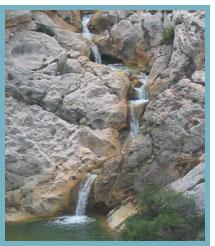 Imagen 1 de las Marmitas en Segura de los Baños del Río Aguasvivas.