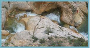 Imagen 2 de las Marmitas en Segura de los Baños del Río Aguasvivas.