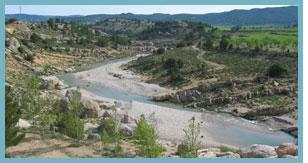 Imagen de los meandros del del río Bergantes