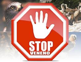 Señal de Stop con el eslogan Stop Veneno