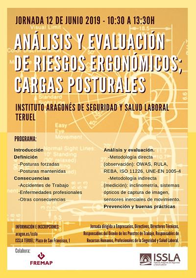 Jornada riesgos ergonómicos, Teruel