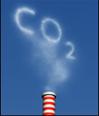 Chimenea con la palabra CO2 escrita con humo