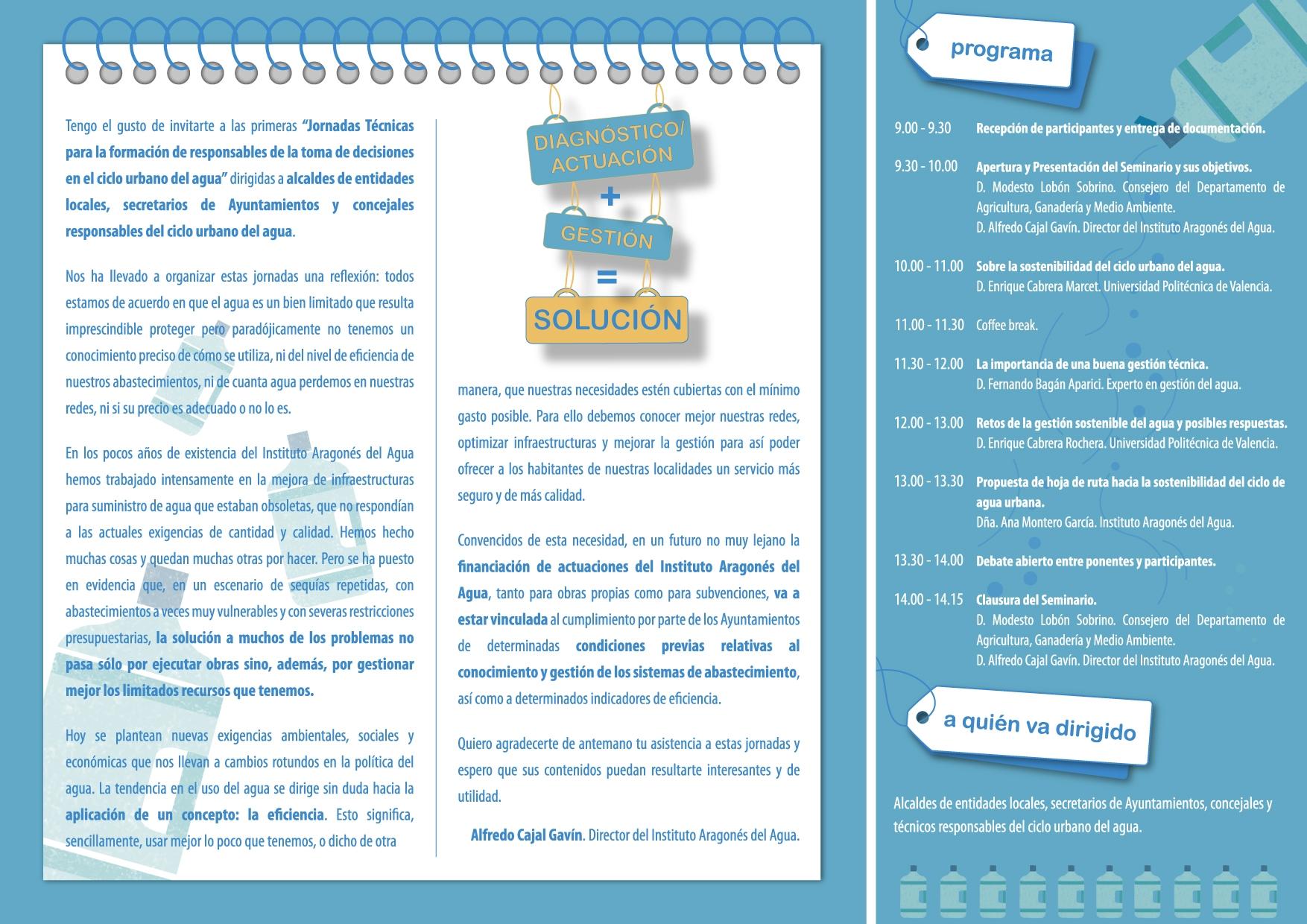 Jornadas Técnicas para Responsables en el Ciclo Urbano del Agua ...