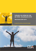 Portada del estudio: Indicador de Calidad de Vida del CESA (IQVCESA). Actualización 2015
