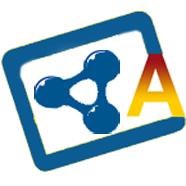 Icono con una A