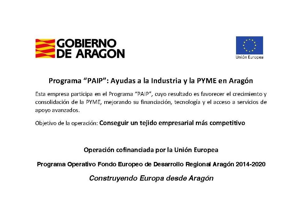 """Programa """"PAIP"""": Ayudas a la Industria y la PYME en Aragón"""