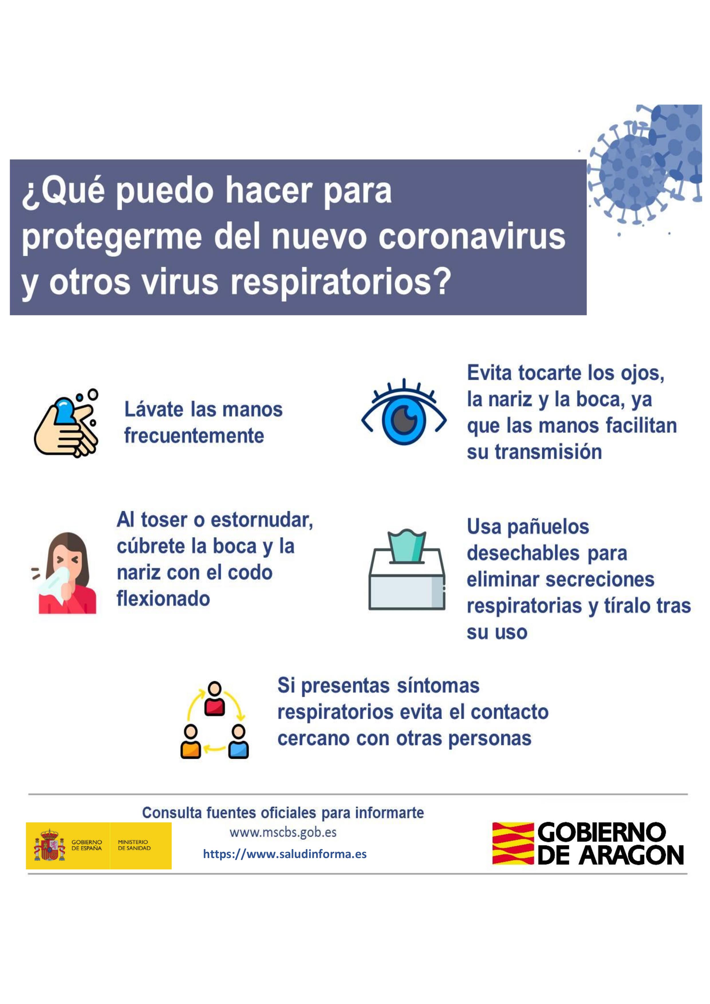 Resultado de imagen de infografias gobierno de aragon y coronavirus